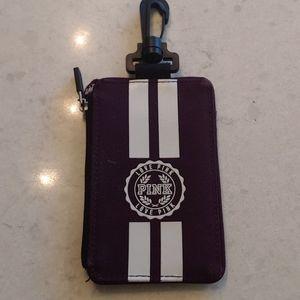 PINK Victoria's Secret key holder/card/ID case